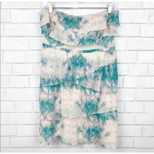 Urban Outfitters Tiered Ruffle Tie Dye Dress